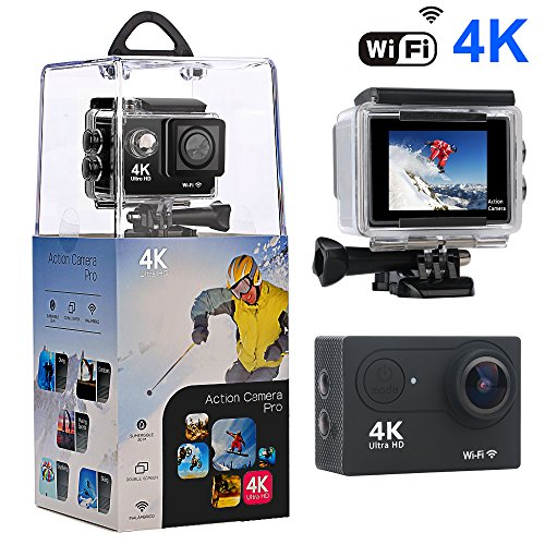 Action Camera,Bekhic 4K WiFi Ultra HD Waterproof Sport Camera
