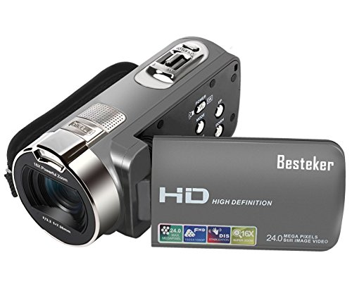 Camera Camcorders, Besteker HD 1080P 24MP 16X Digital Zoom