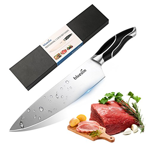 Bluesim Chef\'s Knife,Stainless Steel 7.5 inch Sharp High Carbon