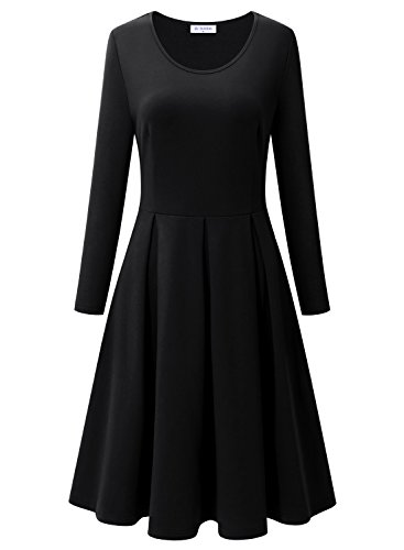 Black Dress for Women, Bulotus Women's Long Sleeve Simple