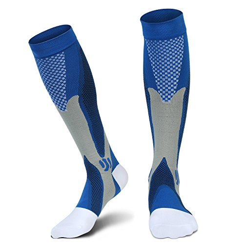 Graduated Compression Socks for Men Women, L/XL, for Running