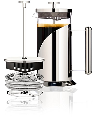 Cafe Du Chateau 34oz French Press, 4 Level Filtration