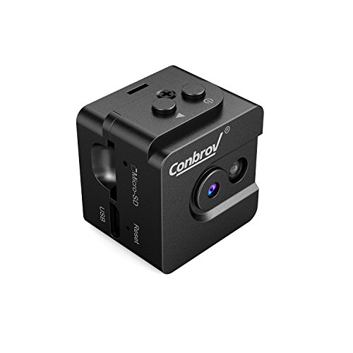 Mini Spy Cam Hidden Camera-Conbrov T16 720P Portable Small
