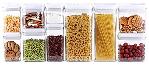 DRAGONN 10-Piece Airtight Food Storage Container Set, Big Sizes