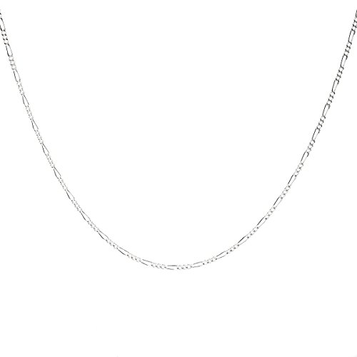 925 Sterling Silver 1.8MM Figaro Chain - Italian Crafted