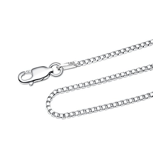 925 Sterling Silver 1.5 MM Box Chain Italian Crafted
