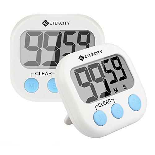 Etekcity Digital Kitchen Timer, Big Digits Loud Alarm Magnetic