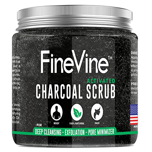 Activated Charcoal Scrub - Made in USA - For