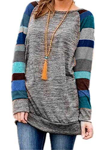 HARHAY Women's Cotton Knitted Long Sleeve Lightweight Tunic Sweatshirt