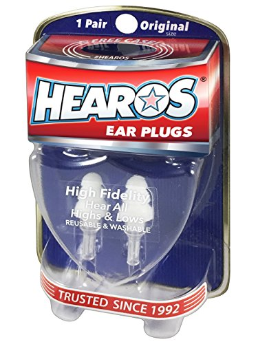 Hearos Earplugs High Fidelity Series with Free Case, 1