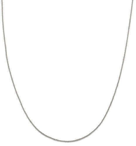 IceCarats 925 Sterling Silver 1.15mm Link Curb Chain Necklace