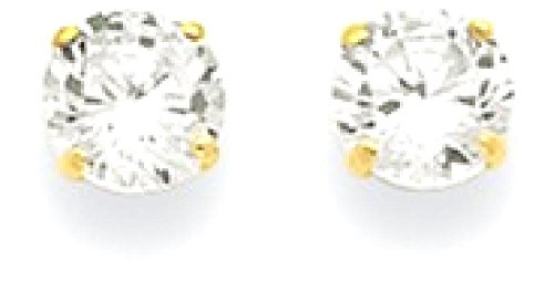 IceCarats 14k Yellow Gold 5mm Round Cubic Zirconia Cz