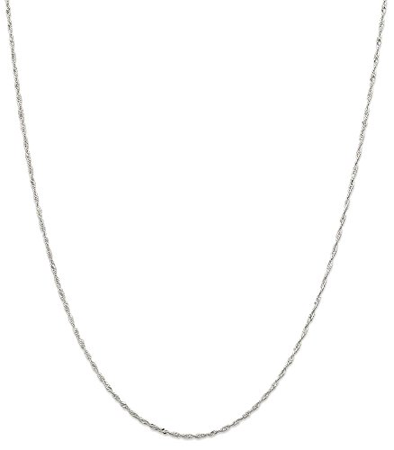 IceCarats 925 Sterling Silver 1.40mm Link Singapore Chain Necklace
