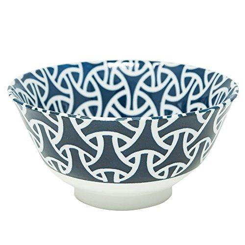 "Japanese rice bowl, Porcelain, lucky charm patterns ""Enmusubi"" (matchmaking)"