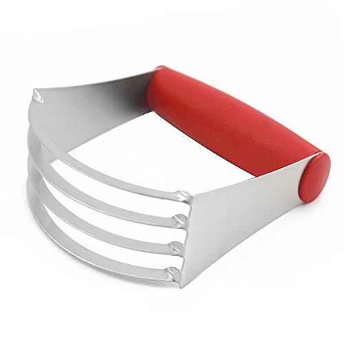 ISSIKI Kitchen Pastry Cutter Red Stainless Steel - Professional