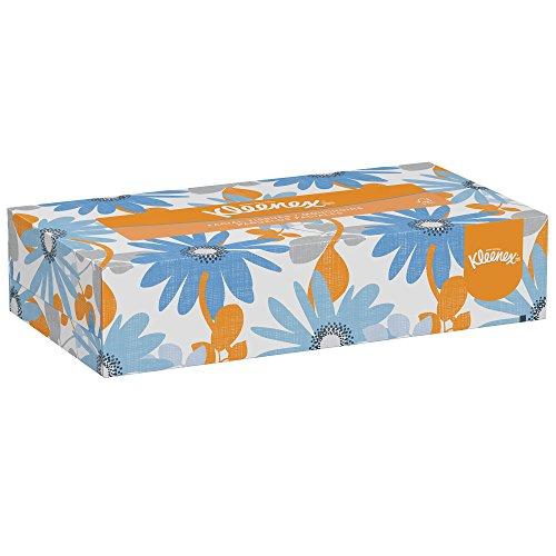 Kleenex Facial Tissue (03076), Flat Tissue Boxes, 12 Boxes