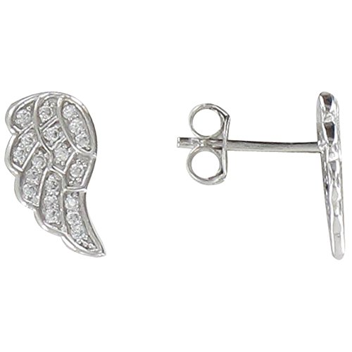 Les Poulettes Jewels - Sterling Silver Earrings Studs Angel