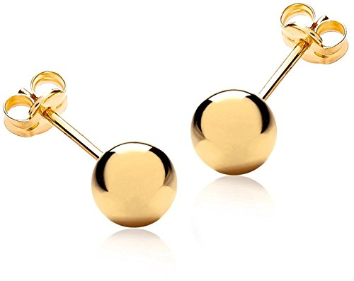 Lifetime Jewelry Stud Earrings, Large, 24K Gold over Semi-Precious