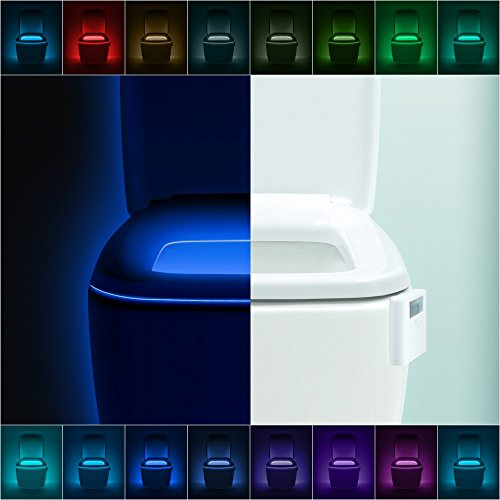 LumiLux Advanced 16-Color Motion Sensor LED Toilet Light, Internal
