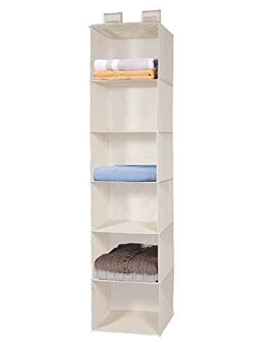Closet Hanging Shelf, MaidMAX 6-Shelf Collapsible Hanging Accessory Organizer