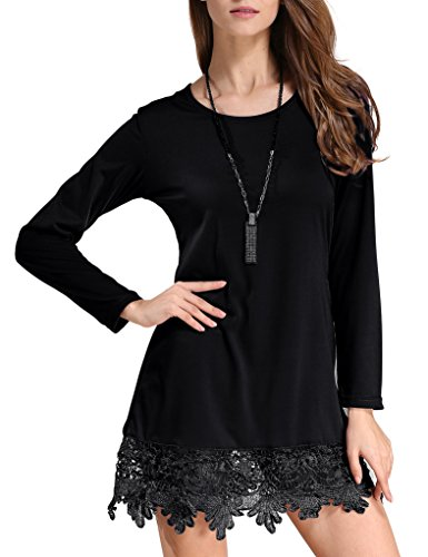 Match Women\'s Long Sleeve Lace Casual Dress(US 6 -