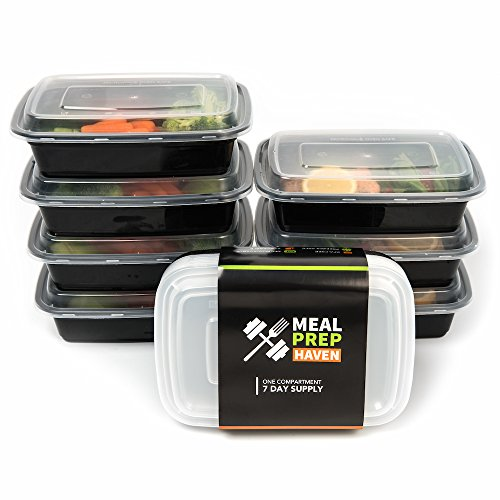 Meal Prep Haven Stackable Food Containers with Lids, Set