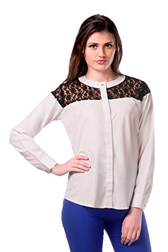 Miss Chase Women\'s Black  White Round Neck Long