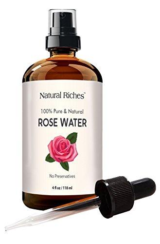 Rose Water Facial Toner Spray - 100% Natural Organic