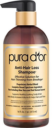 PURA D'OR Anti-Hair Loss Shampoo (Gold Label), Effective Solution