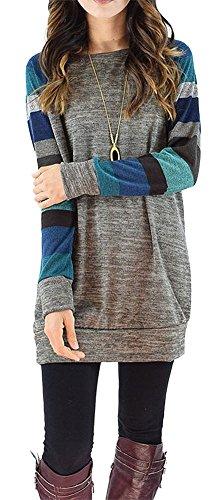 PinupArt Women\'s Color Block Long Sleeve Sweatshirt Cotton Jersey