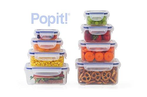 Popit Little Big Box Food Plastic Container Set, 8