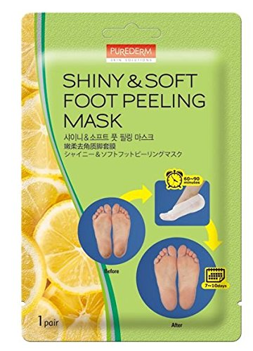 3-Pair Foot Peeling Mask Set By Purederm – Exfoliating