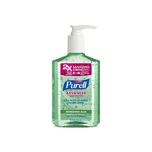 Purell Advanced Instant Hand Sanitizer with Aloe, 8 oz