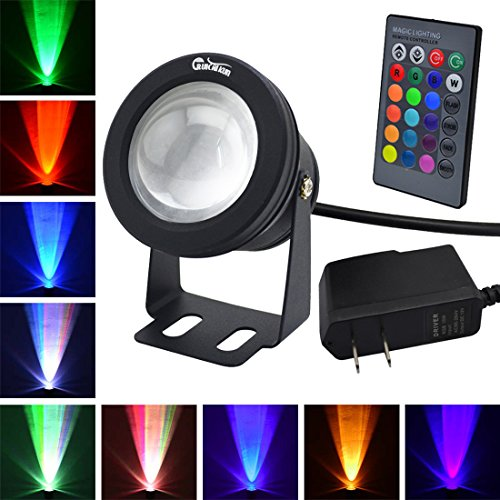 RUICAIKUN 10W Waterproof Outdoor US plug RGB Light LED