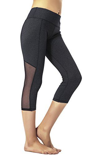 RUNNING GIRL Flexible Mesh Panel Ankle Leggings Workout Running