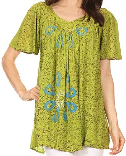 Sakkas S-4-82202 - Talulla Long V Neck Batik Floral