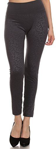 Sakkas YC1501 - Women\'s Patterned Soft Fleece Lined High