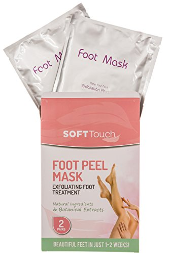 Soft Touch Foot Peel Mask, Exfoliating Callus Remover (2