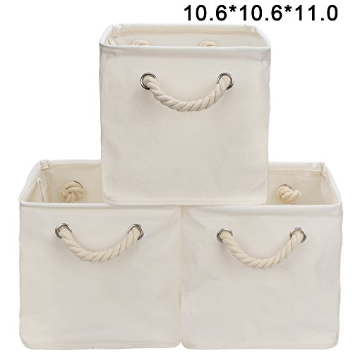 Storage Cube Organizer Bin With Strong Cotton Rope Handle,Storage