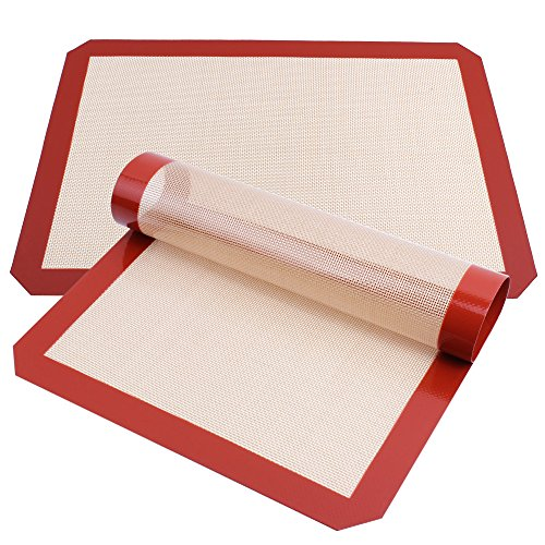 Silicone Baking Mat, Xpatee Set of 2 Silicone Baking