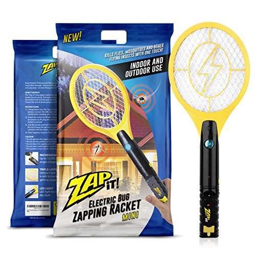 Zap-It! Mini Bug Zapper - Rechargeable Mosquito, Fly Killer
