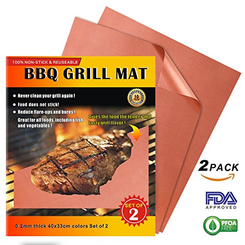 iMarku Grill Mat Set of 2,Non-stick BBQ Grill