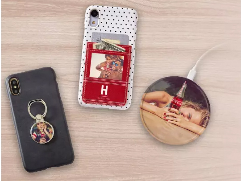 Free Charger, Phone Card Holder Or Phone Ring From Coca Cola!
