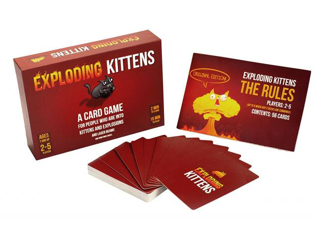 Get A Free Exploding Kittens Card Game!