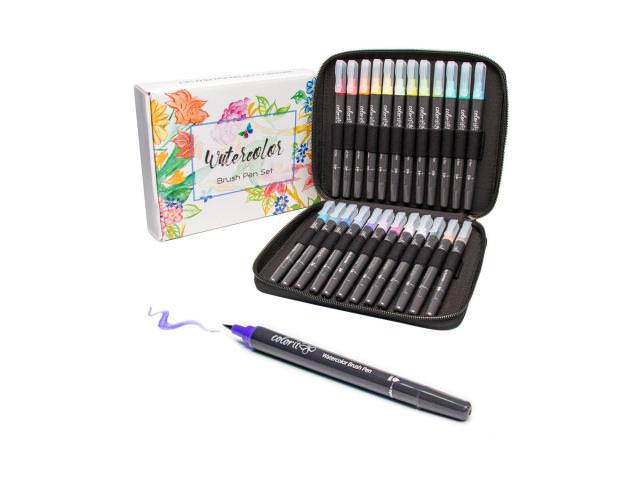 Get A Free ColorIt Refillable Watercolor Brush Pens Set!