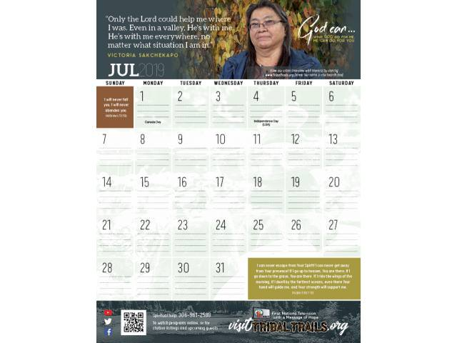 Get A Free Tribal Trails 2019 Calendar!