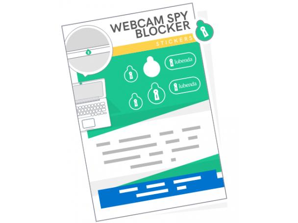 Free Webcam Spy Blocker Sticker From Iubenda!
