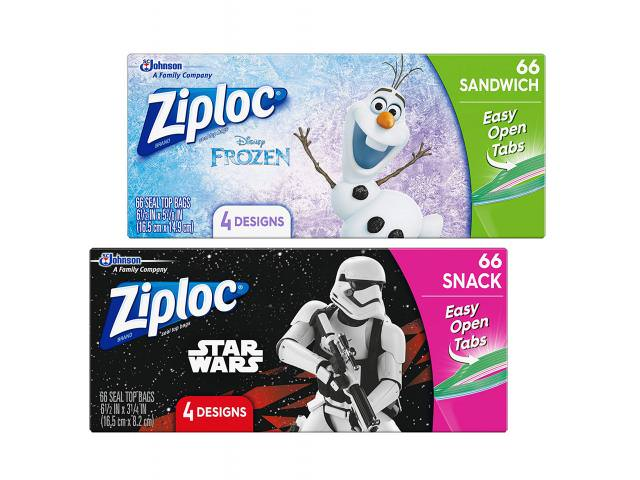 Get Free Star Wars + Frozen Ziploc Sandwich Bags!