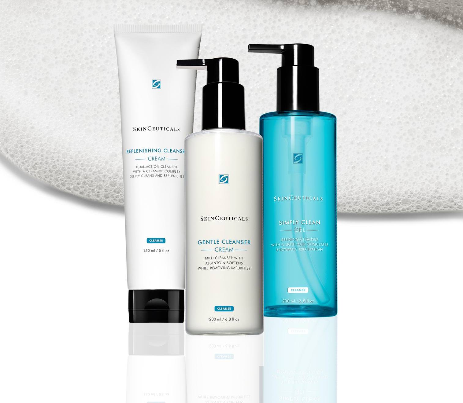 Get 3 Free SkinCeuticals Cleaners!