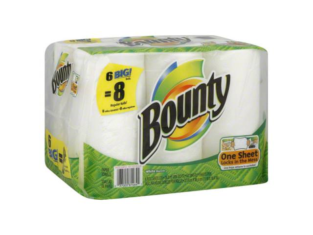 Get A Free Pack Of 6 Bounty Super Roll Paper Towels!